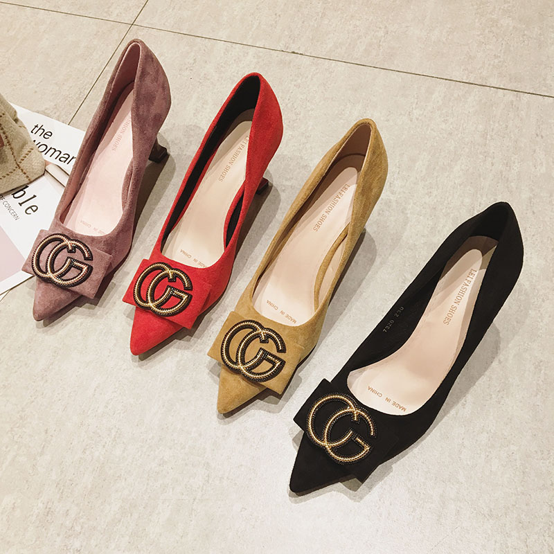33 方扣黑色工作鞋红色婚鞋 32 新款 2020 小码高跟鞋女百搭单鞋细跟 31
