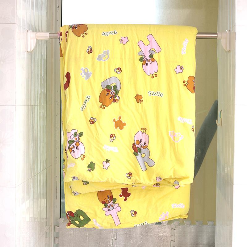 白烤漆伸缩杆窗帘浴帘杆免打孔免安装晾衣杆娃娃机杆门帘半帘直杆