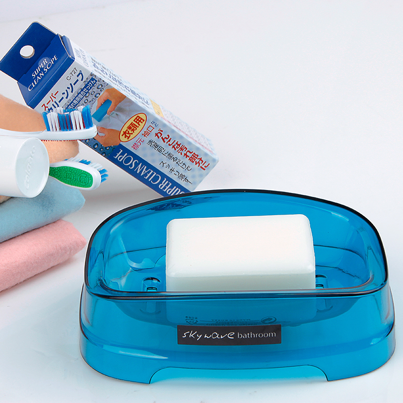 韓國進口長方形肥皂盒塑料香皂盒衛生間肥皂收納盒PP材質健康環保
