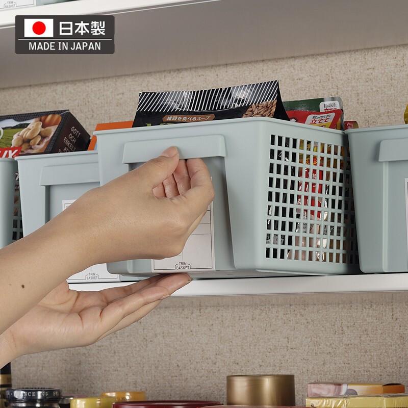 日本进口桌面收纳篮零食收纳筐台面整理盒储物小物杂物收纳整理框
