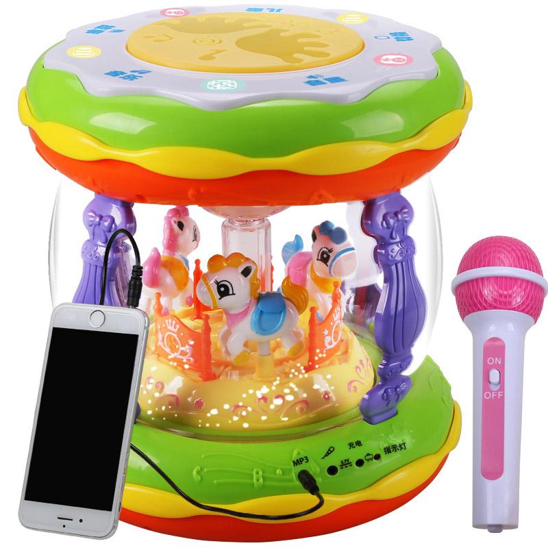 宝宝音乐手拍鼓儿童拍拍鼓可充电早教益智1岁0-6-12个月婴儿玩具3