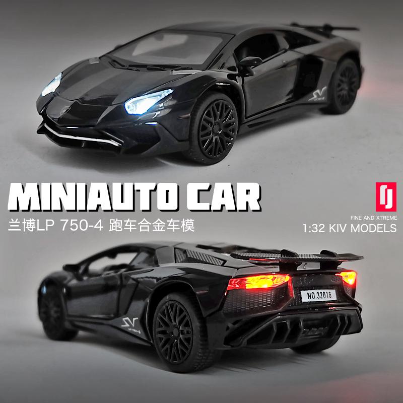 兰博基尼LP770汽车模型仿真合金车模跑车模型儿童玩具车男孩赛车