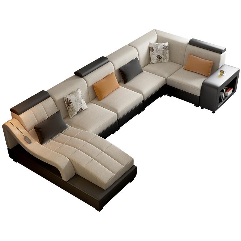 布艺沙发组合现代简约客厅大小户型整装三人多功能家具套装组合
