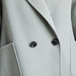 双面羊绒大衣女2019年新款斗篷式Aa字版羊毛呢外套短款小个子学生