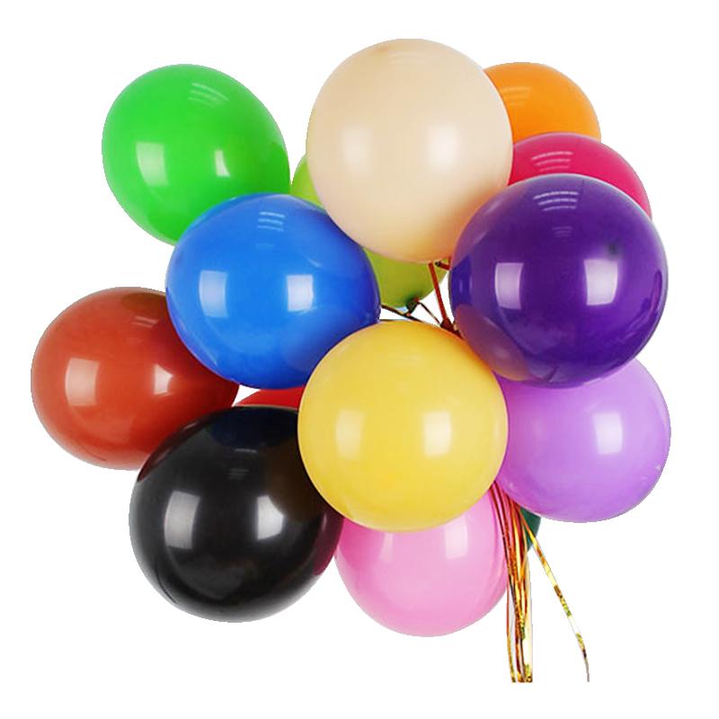 彩色气球批發 儿童周岁生日派对结婚礼装饰婚房场景布置100个加厚