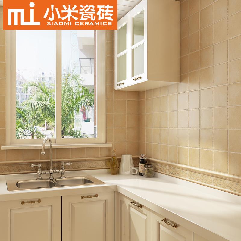 小米瓷砖 地中海墙砖蓝色仿古砖美式卫生间厨房地砖300x300 F3006