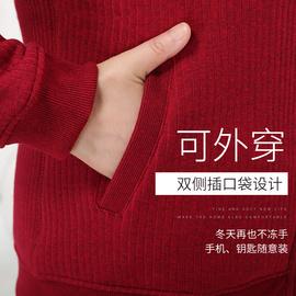 中老年保暖内衣男女开衫加厚加绒大码妈妈冬季爸爸老人羊羔绒棉衣