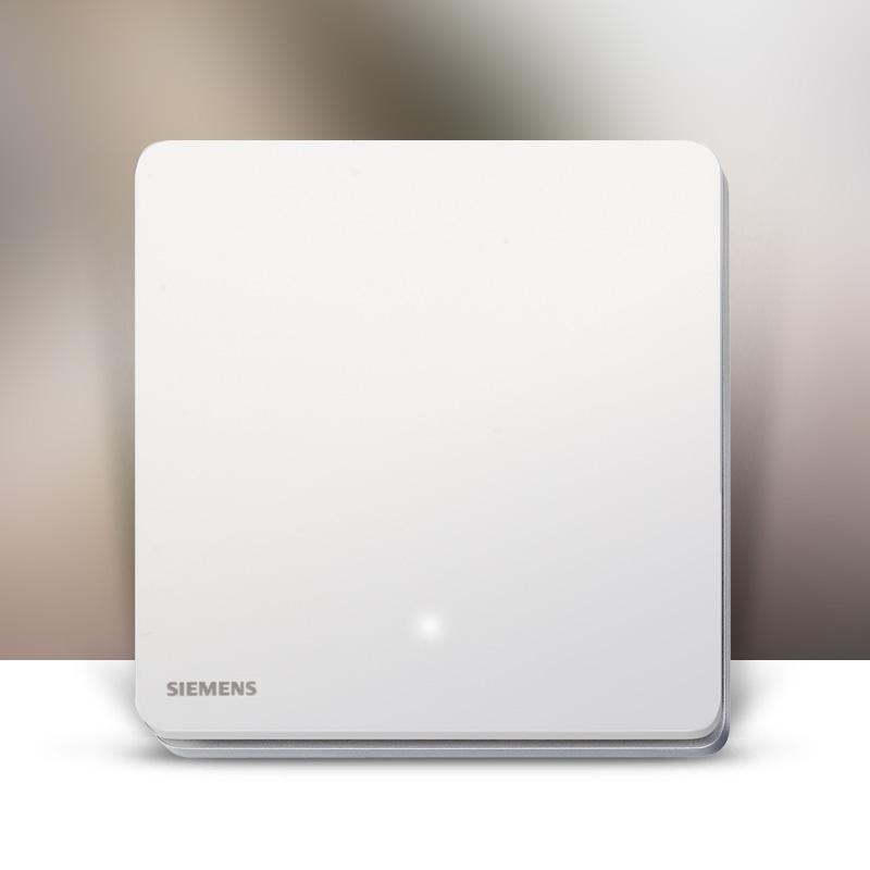 西门子睿致系列开关插座面板无框家用16A象牙白色睿智LED一开单控