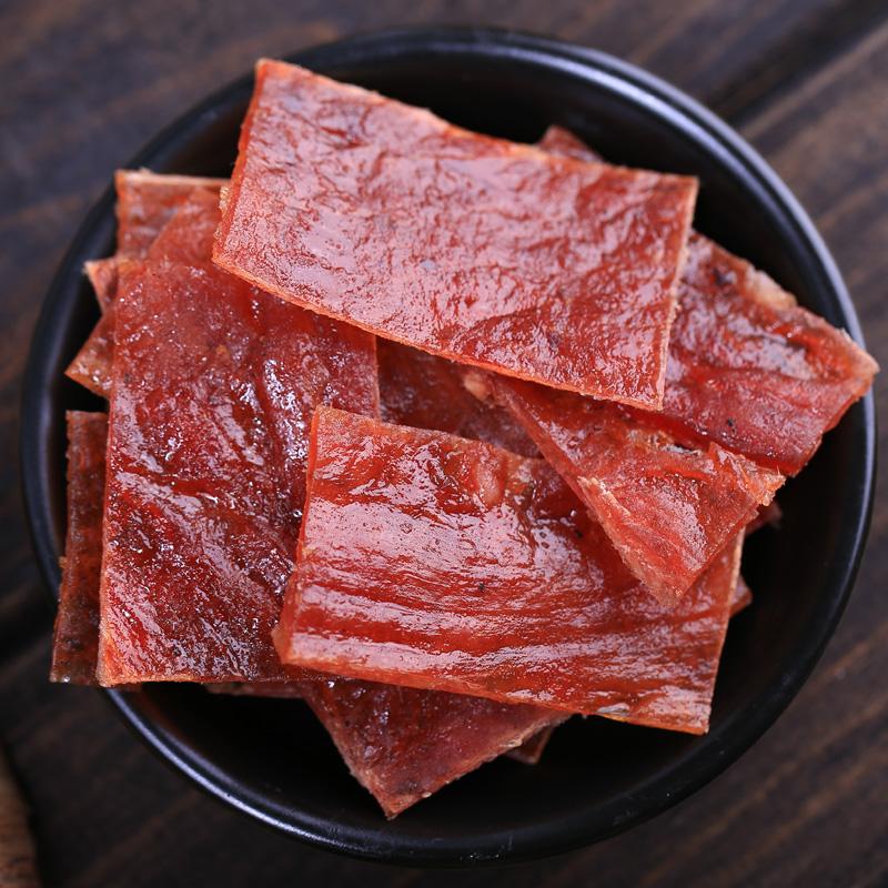 黄胜记猪肉脯原味肉干肉脯厦门特产牛肉铺牛肉干牛肉粒零食小吃