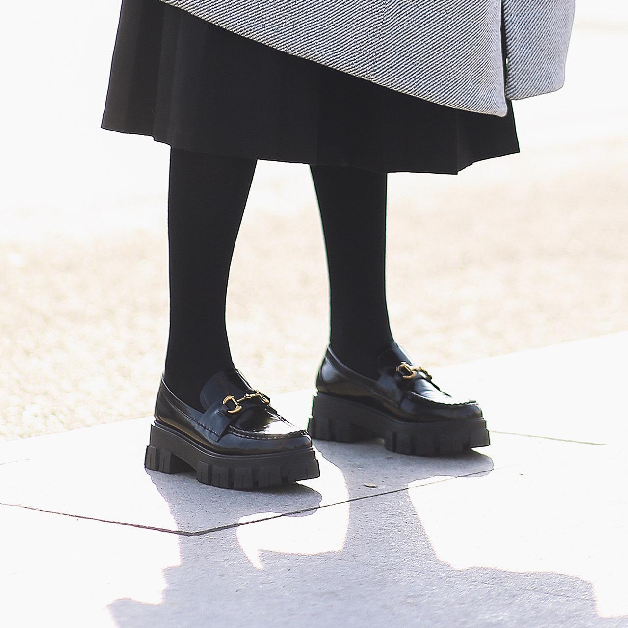 预售 3HJA3AM0 春季新品松糕厚底复古小皮鞋 2020 百丽暗黑乐福鞋女