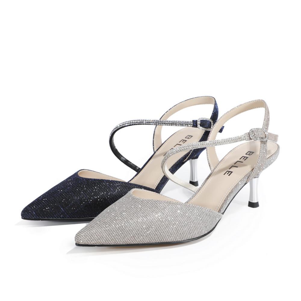 BSCD4AH0 春季新品商场同款晚宴女凉鞋 2020 聚百丽一字带凉鞋