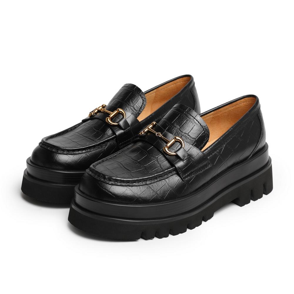 预聚 3V523CM0 单鞋 JK 秋商场新款松糕厚底 2020 百丽复古英伦乐福鞋女
