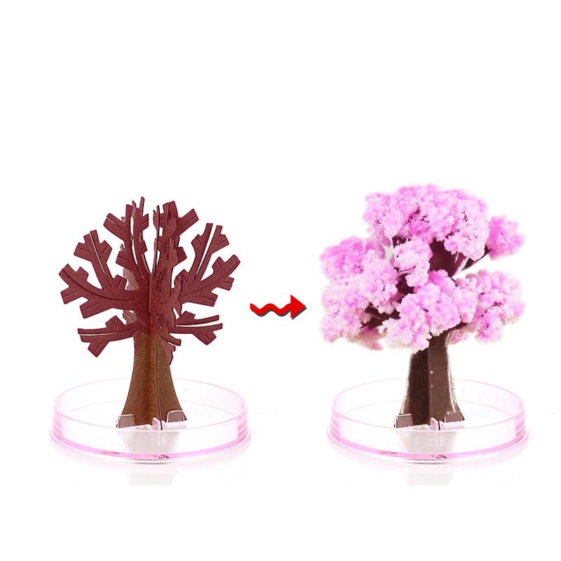 樱花树纸树开花创意桌面科学实验工艺摆件玩具六一儿童节生日礼物