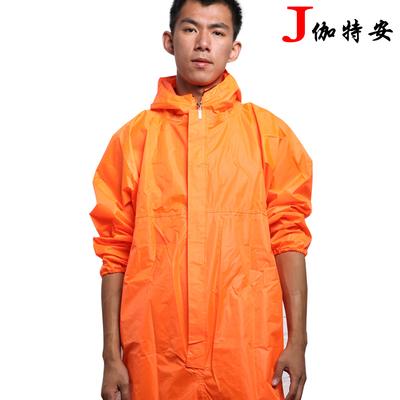 伽特安连体防护服带帽防水喷漆防尘服防护工作服雨衣男LT17