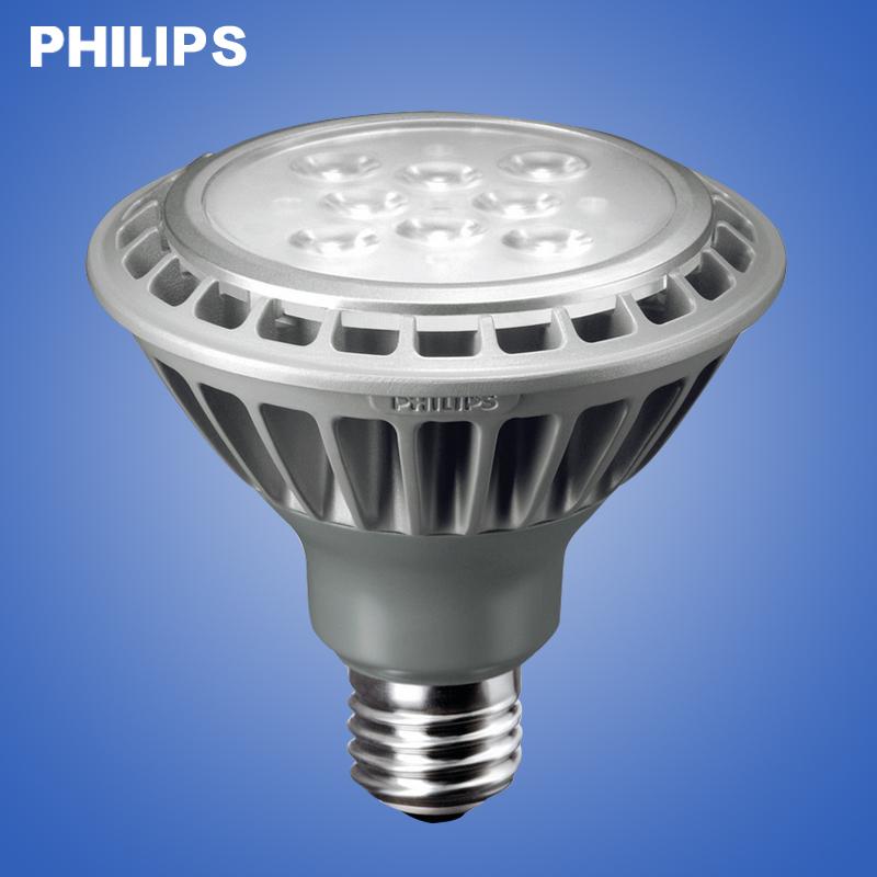 飞利浦 PAR38 PAR30 E27螺口节能灯杯P30金卤灯泡暖光LED射灯光源