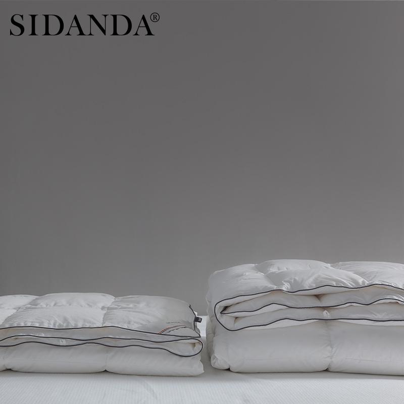 白鹅绒羽绒被空调春秋被暖气被薄夏被子静音双人 95 诗丹娜 SIDANDA
