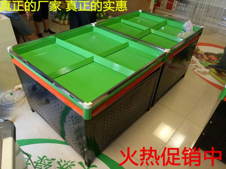 水果蔬菜平台货架 超市果蔬展销台 散装堆头蔬果展示架 全封带门