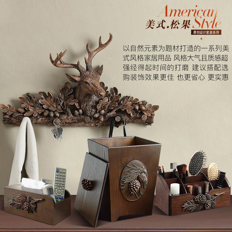 美式酒柜办公室招财摆设工艺品欧式鹿头家居电视柜客厅装饰品摆件