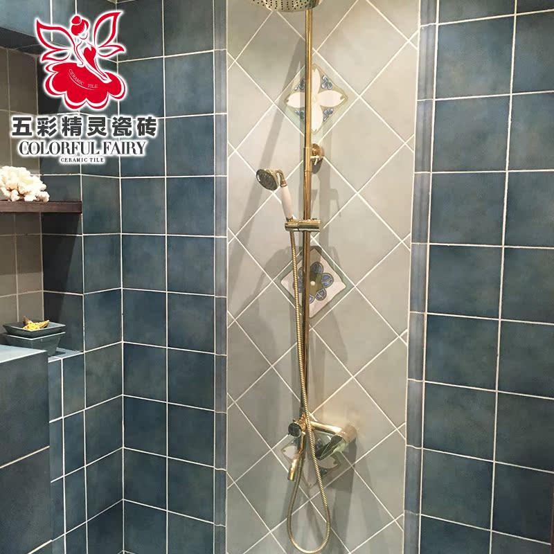 五彩精灵仿古砖 美式瓷砖配件厨房卫生间阳台 压条 腰线 阳角 200