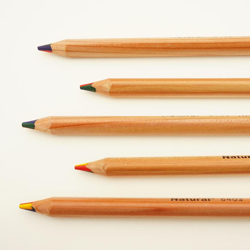 马可彩色铅笔四色一笔多色彩铅彩虹笔渐变色七彩混色魔幻彩铅笔画册专业手绘儿童无毒幼儿绘画画画笔多色笔