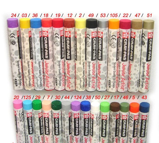 樱花油画棒单色包装白色黑色油画棒防水油性水产记号蜡笔幼儿园重彩油化棒腊笔宝宝涂鸦彩色蜡笔批发包邮