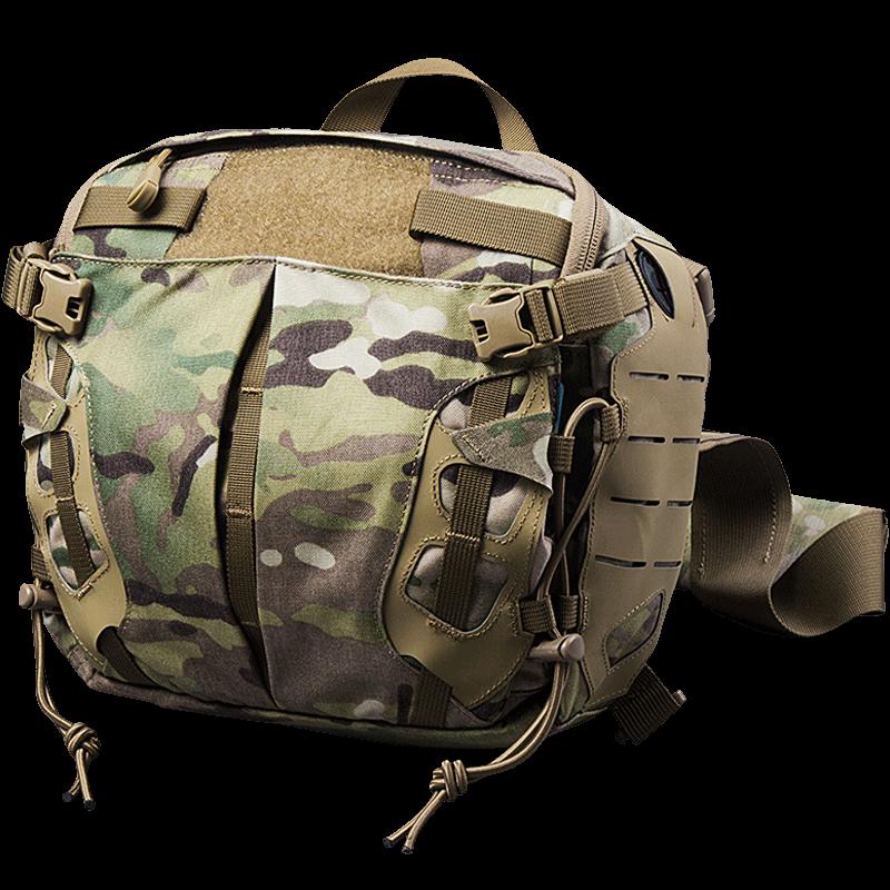 龙牙新款战术军迷挎包户外迷彩休闲通勤单肩斜跨背包手提包铁血