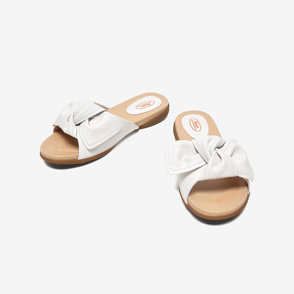 APR06BT0 夏商场新款休闲真羊皮网红凉鞋 2020 拖鞋外穿女软底平 Bata