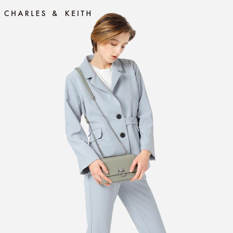 双肩带女士翻盖斜挎小方包 20780764 CK2 流浪包 KEITH & CHARLES