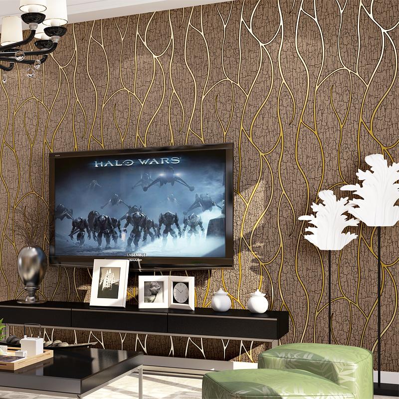 简约欧式餐厅卧室背景墙壁纸 海民客厅电视背景墙纸包工包料套餐