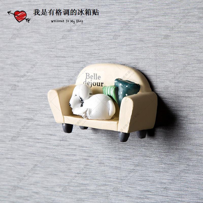韩国3D立体可爱创意狗狗冰箱贴 磁贴吸铁石强力留言贴【58包邮】