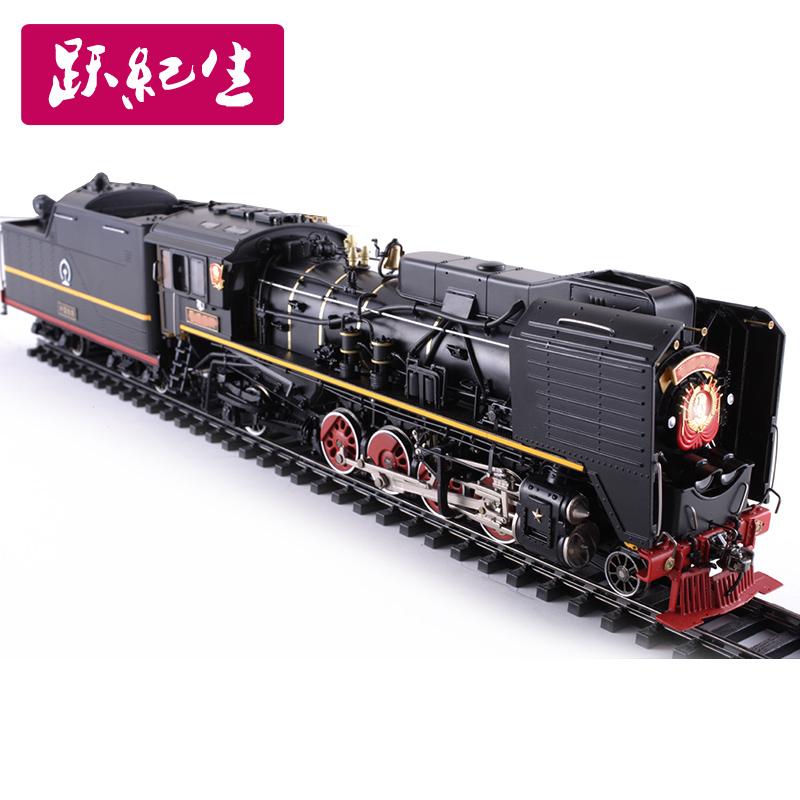 1:48 蒸汽机车模型 收藏品火车模型合金静态摆件铁路静态展示模型
