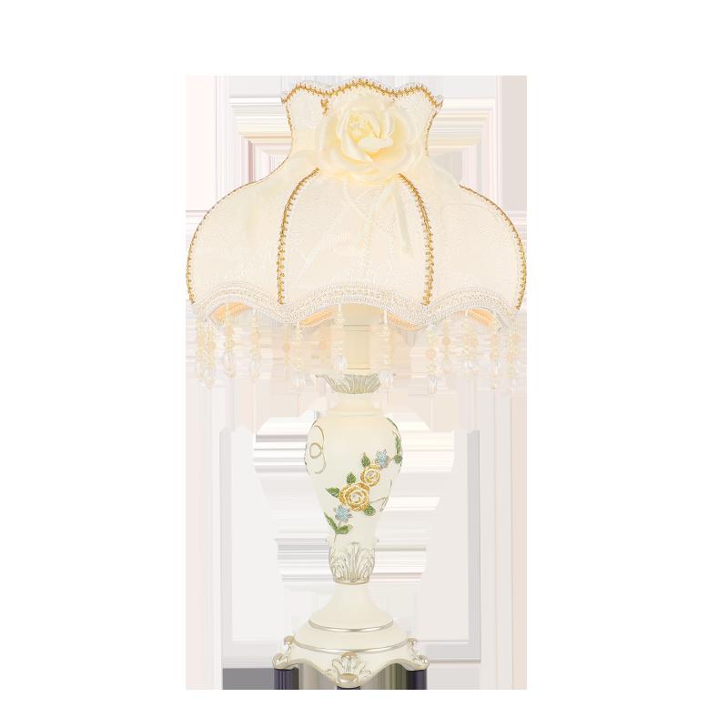 欧式台灯卧室床头灯简约温馨客厅结婚创意浪漫婚房装饰家用可调光
