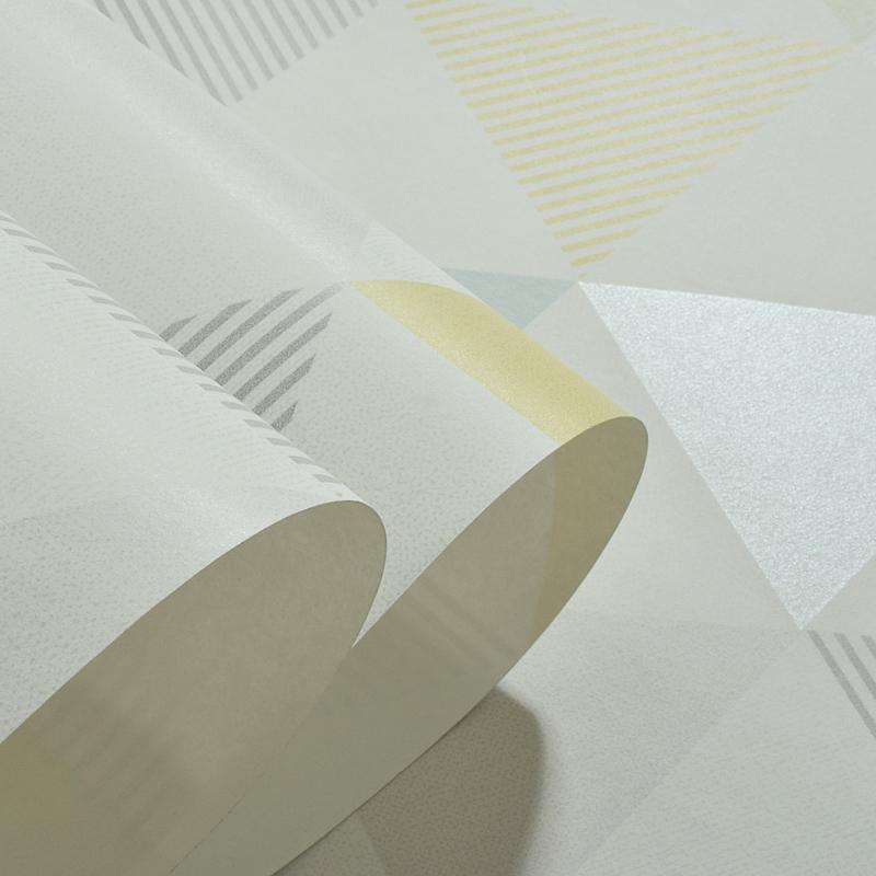 米冠现代几何菱形壁纸北欧ins风卧室书房客厅电视背景无纺布墙纸