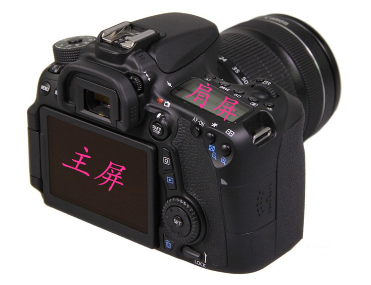 佳能单反相机5D4/5D3/6D2/77D/200D/800D/M5微单M6/90D/80D钢化膜