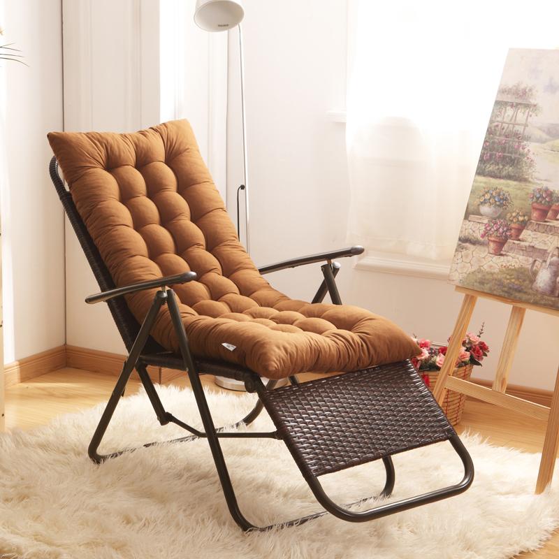 加厚羊羔绒冬季躺椅垫子垫摇摇椅坐垫椅子座垫女沙发垫子一体靠垫