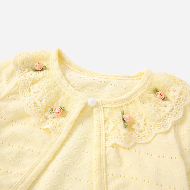 女童小披肩1-3岁宝宝外搭开衫针织夏儿童秋装女5婴儿外套春秋薄款