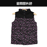 Free shipping authentic VANS Vance 2015 autumn female models sport casual cotton vest jacket Leopard VN-0261G3J