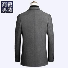 羊毛呢西服男春秋季男士外套呢子小西装商务休闲夹克上衣单西服男