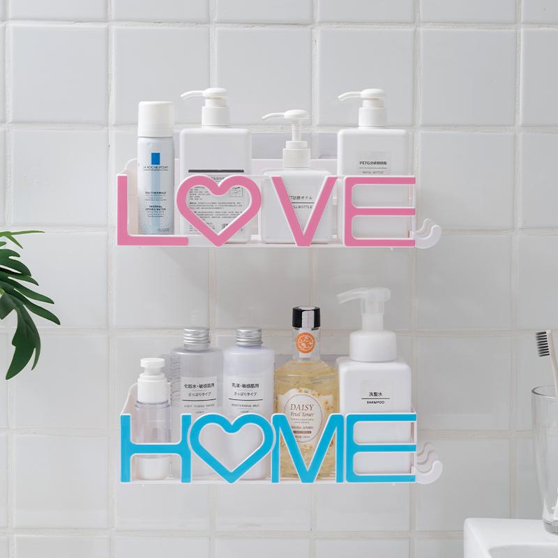 卫生间置物架壁挂寝室宿舍墙上免打孔厕所三角架浴室洗澡间收纳架