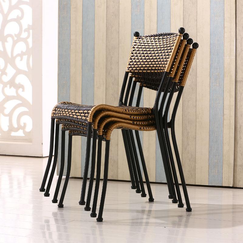 编织藤椅单人椅子家用阳台户外庭院桌椅休闲腾椅竹编小滕椅靠背椅