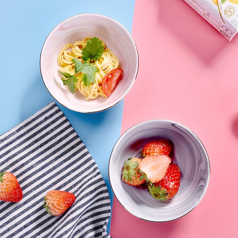 英国比得兔大理石纹碗套装碗加勺餐具套装组合装餐具家用陶瓷碗