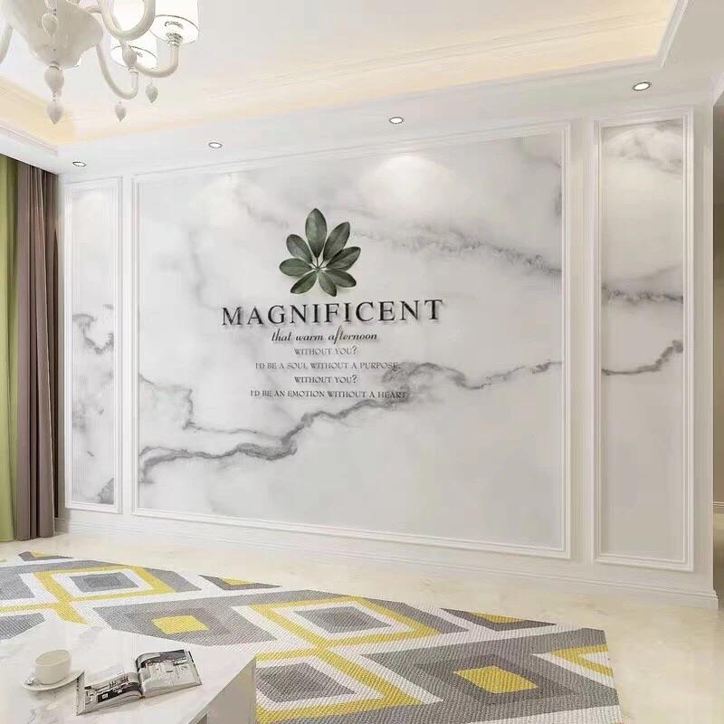 客廳北歐沙發墻紙布壁布 8d 仿大理石幾何電視背景墻壁畫 3d 現代簡約