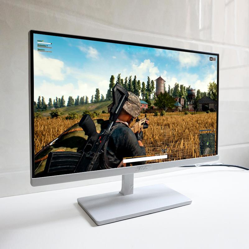 AOC显示器22英寸 高清护眼IPS屏幕 无边框21.5寸液晶电脑显示屏19 I2279vw台式家用HDMI ps4 超薄24