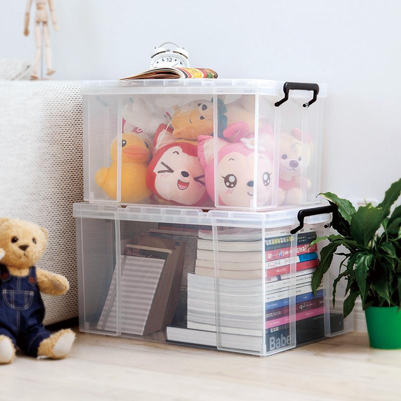 加厚特大号收纳箱塑料储物盒家用衣物衣服透明整理箱大号箱子有盖