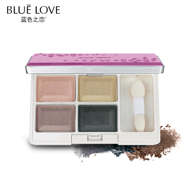 藍色之戀眼影四色懶人眼影盤啞光大地色裸妝防水韓國初學者女自然