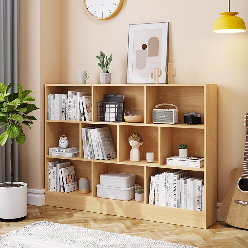 书架置物架落地简约客厅收纳书柜家用创意学生简易经济型小储物架