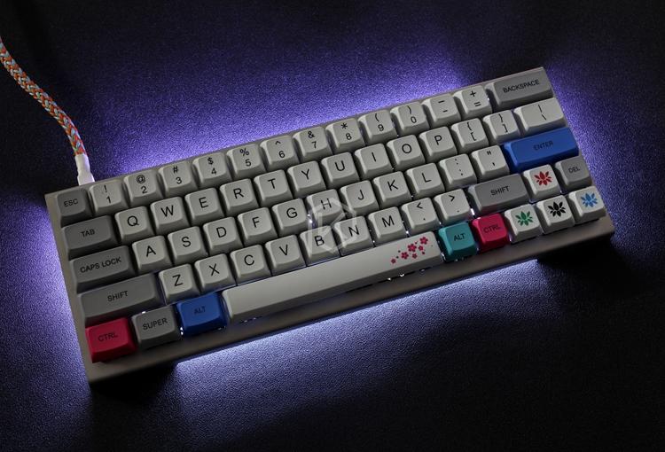 xd64 gh60 60%机械键盘不锈钢弯折外壳客制化diy多配列支持