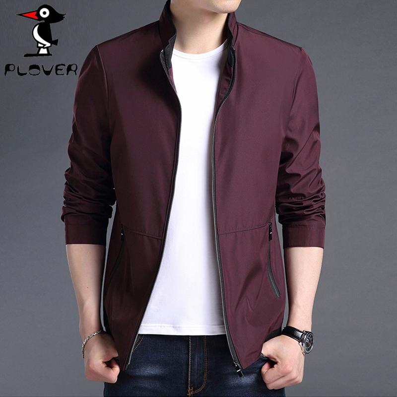 男士2019春季新款立領時尚夾克男韓版休閑薄款棒球服外套
