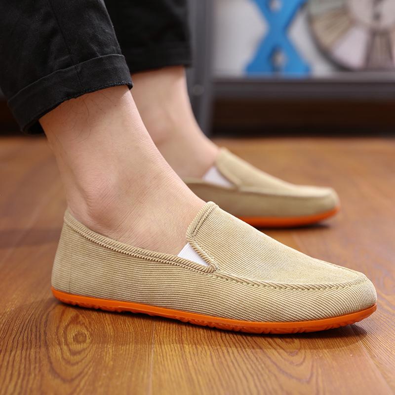 春季透气男鞋北京老帆布鞋男韩版鞋子休闲鞋套脚驾车懒人鞋男布鞋