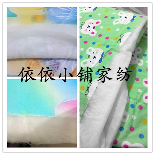 包邮新款棉绸绵绸人造棉布料夏凉被 宝宝抱被1米*1米  图案可定制